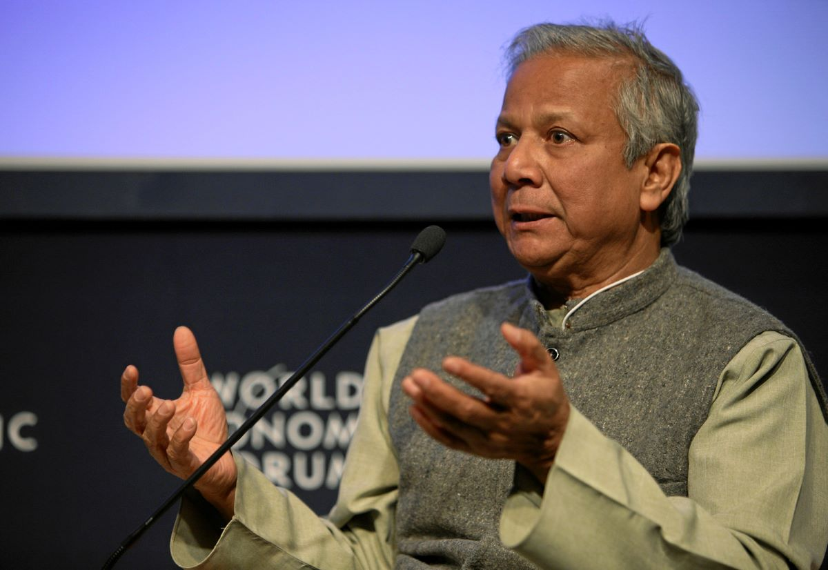 photo of Muhammad Yunus at the World Economic Forum