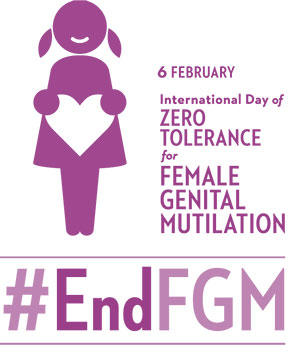 logo for International Day of Zero Tolerance to Female Genital Mutilation