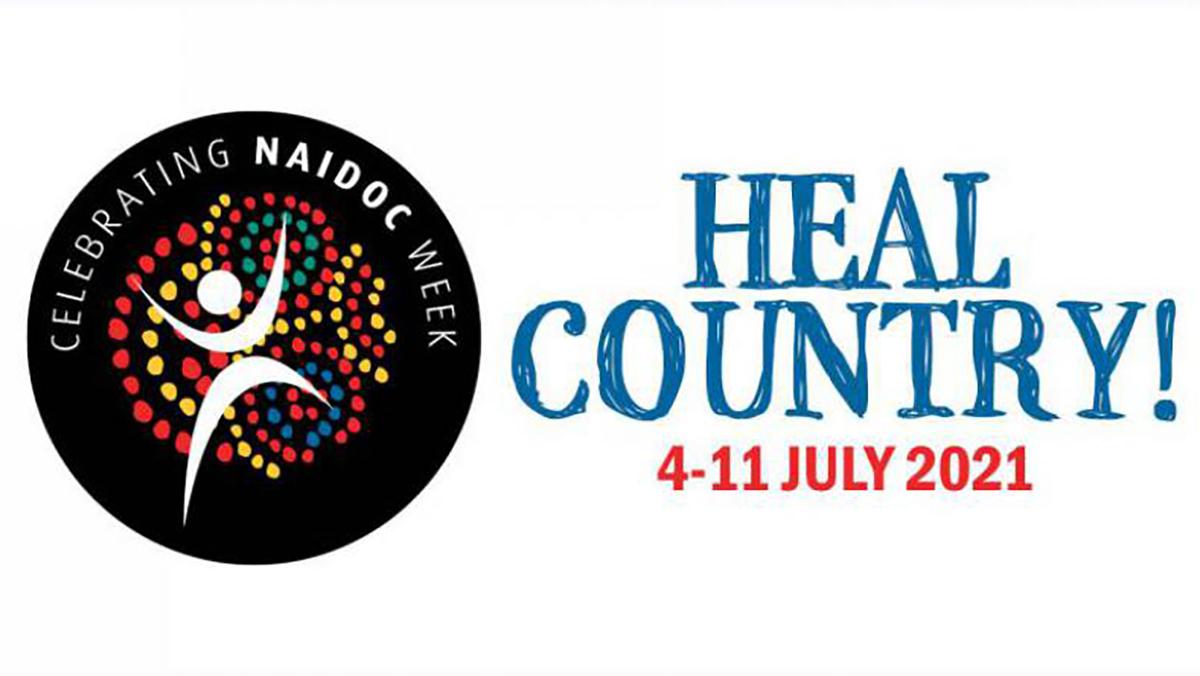 NAIDOC logo and theme: Heal Country