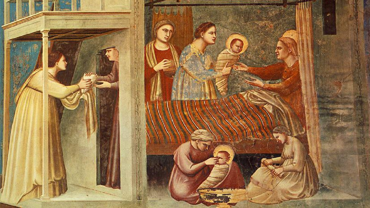 The Birth of the Virgin | fresco by Giotto