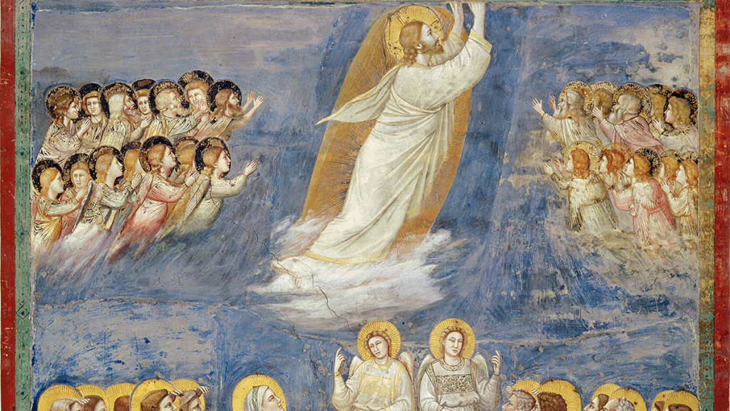 detail of the Ascension of the Lord by Giotto