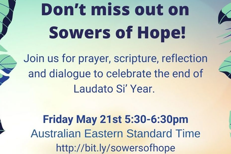 Poster for Sowers of Hope information